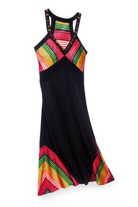 DKNY striped racer-back dress