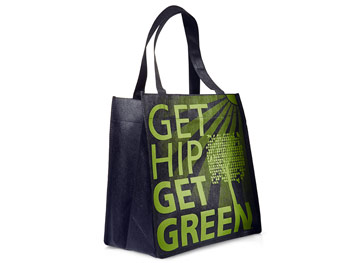 Get Hip Get Green tote bag