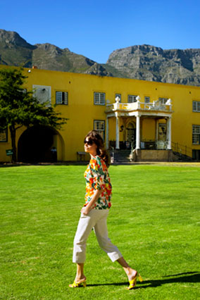 Model at the Castle of Good Hope in Cape Town