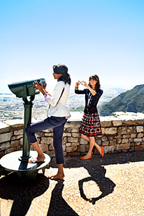 Models at Table Mountain in Cape Town