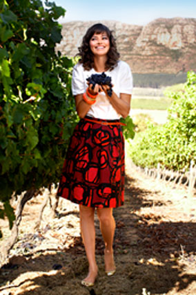 model at Groot Constantia Wine Estate