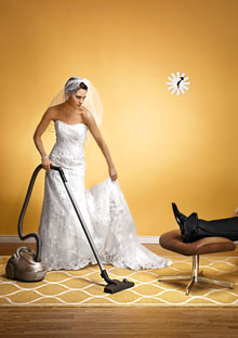 Bride with vacuum
