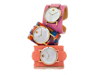 Colorful cuff watches