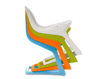 High-art stacking chairs