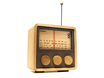 A radio and MP3 player