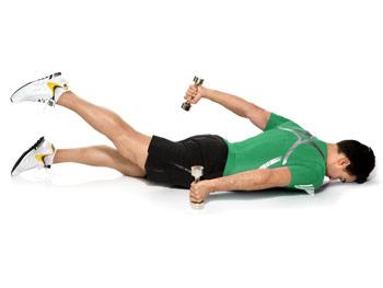 Opposite arm and leg raises