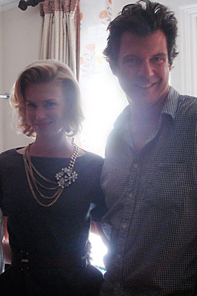 Behind the scenes with January Jones and O editors Adam Glassman and Ann Caruso