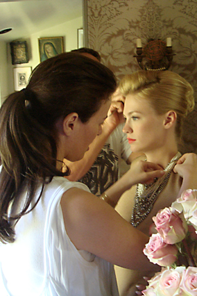 Behind the scenes with January Jones and Ann Caruso
