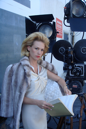 Behind the scenes with January Jones