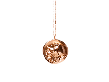 Rose-gold Melody Rodgers Athena necklace