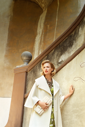 January Jones models Grace Kelly style.