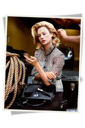 January Jones models Grace Kelly style.