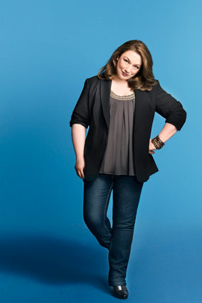 Lisa Kogan models Evans jeans.
