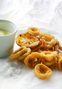 Grapeseed-Oil-Fried Calamari with Lemon Herb Mayonnaise