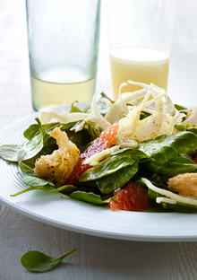 Shaved Fennel, Grapefruit, and Arugula Salad