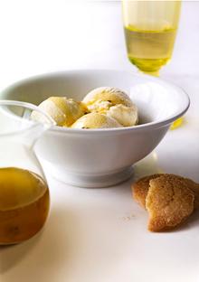 Olive Oil Vanilla Ice Cream