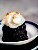 Blueberry Summer Pudding with Swiss Meringue