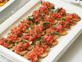 Bruschetta with Crostini or Grilled Polenta