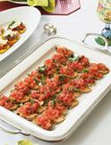 Cristina Ferrare's Bruschetta with Crostini or Grilled Polenta