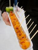 Cantaloupe Lollipops with Crispy Prosciutto