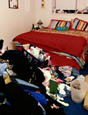 Clean up your messy bedroom.