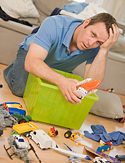 Clean up your messy family room.