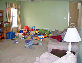 Tracey's living room