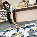 Clean up your messy office.