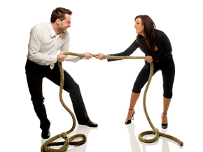 Resolve conflict with your partner.