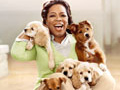 Oprah and puppies