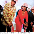Oprah and Nelson Mandela breaking ground on the Leadership Academy in South Africa