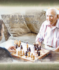 Have fun with an elderly person.