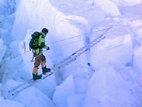 Bear Grylls during his Mount Everest climb