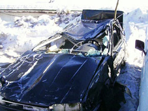 Car rescued from an avalanche