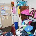 Clean up your messy dorm room.