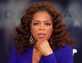 Oprah talks about the recession.