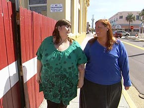 Ruby Gettinger surprises Kathy, a woman who says she was inspired by Ruby to lose weight.