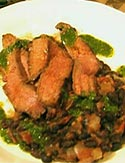 Grilled Flank Steak with Chipotle Chili Paprika Rub and Chimichurri