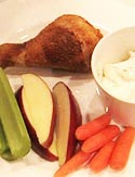 Tyler Florence's Crispy Chicken Drumsticks with Ranch Dressing