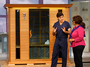 Infrared saunas help you burn 700 calories without lifting a finger.