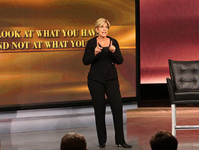 Suze Orman asks people to be grateful for what they have.