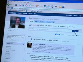 The social network Facebook is sweeping the nation.