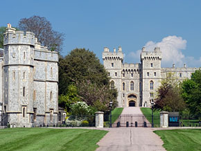 Windsor Castle, home to Queen Elizabeth and her royal family