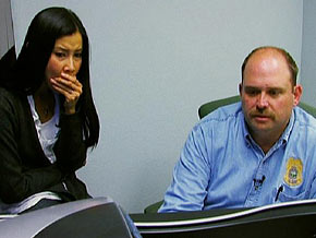 Chief Chuck McMullen describes graphic images to Lisa Ling.