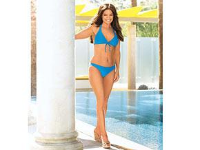 Valerie Bertinelli wore a bikini on a Jenny Craig commercial.