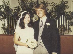 Elizabeth and John Edwards on their wedding day