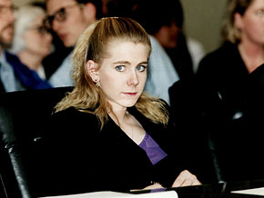 Tonya Harding competes in the 1994 Winter Olympic Games.