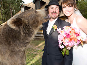 Brutus was best man at Casey Anderson's wedding