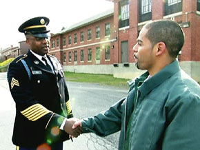 Roberto and Sgt. Allen Hill
