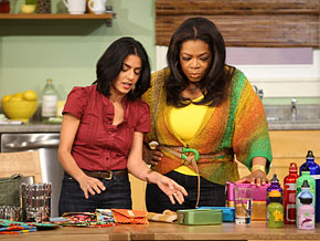 Oprah and Simran's lunch challenge